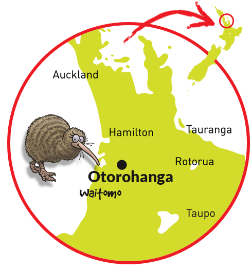 Map of Otorohanga's Kiwihouse
